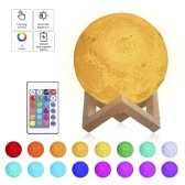 Tomshine Moon Light with Wood Stand Remote & Touching Control LEDs Table Lamp