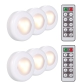 6 Pack LED Under Cabinet Lamp Puck Light With Remote Control