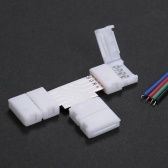 10 Pack White T Shape 4 Pines RGB LED Strip Connector Quick Splitter