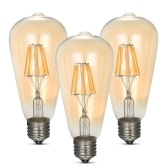 3PCS AC200-240V Vintage 8W ST64 LED Filament Light Bulbs