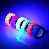 30ft per rotolo 6PCS nastro di retroilluminazione UV reattivo nastro in tessuto fluorescente
