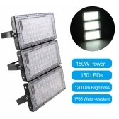 150W Led Flood Light 150 LEDs IP65 Water-resistant Outdoor Landscape Floodlight for Yard Garden Playground Park