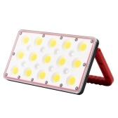Lámpara de trabajo portátil multifuncional Reflector Cinco niveles Pantalla de potencia de atenuación Ajuste libre de 180 °