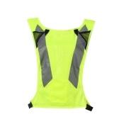 LA-2016 Reflektierende Warnweste Warnweste mit hoher Sichtbarkeit Atmungsaktive Warnweste in leuchtender Neonfarbe mit Reflexstreifen für Bauarbeiter am Straßenrand Notfall Durchschnittliche Größe