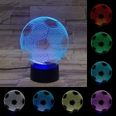 3D Football Soccer Illusion Lamp Touch Switch LED Night Light