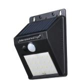 20 LEDs Solar Powered Energy Wall Lamp Light