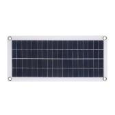DC5V / DC18V 10W Doppelausgangs-Doppel-USB-Schnittstelle Solar Power Energy Charging Panel mit Autoladegerät IP65 Wasserbeständigkeit Tragbare Zubehör für Outdoor-Camping Wandern Angeln