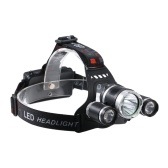 USB Rechargeable 3-heads LED Headlight