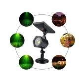 Proyector LED de energía solar IP65 Lámpara estrellada roja y verde clara
