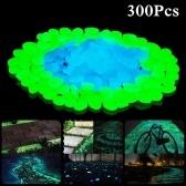 300 piezas de piedras brillantes para exteriores, piedras decorativas para jardín, césped, guijarros luminosos