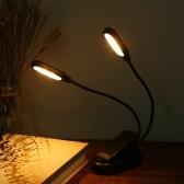 10 LED 2 Light Colors 3 Tryby podświetlenia Lampa stołowa Lampa biurkowa z zaciskiem Clip Base