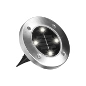 1 piezas de disco Solar Powered Ground Lawn Lights