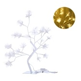 24 L-EDs Flower Tree White Branches Light Warm White Night Light Christmas Home Decoration