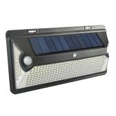 360LEDs Luz de pared de energía con energía solar Lámpara para exteriores Control de luz sensible de doble sensor / Inductor de movimiento PIR