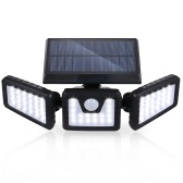 Tomshine 70 LEDs Solar Powered PIR Motion Sensor Wall Street Light