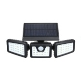 Portable Energy Saving 70 Bulbs Three Heads Rotatable Fully Automated Operation Solar Induction Lamp