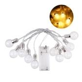 10pcs ampoules 1.5M chaîne lumière de Noël éclairage de vacances décoration de la maison ampoules suspendues