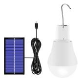 Солнечная лампа 130 лм Портативная светодиодная лампа на солнечных батареях для пеших прогулок, рыбалки, кемпинга, палатки, освещения