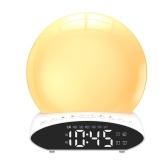 Multifunctional 4 in 1 FM Radio Wake-Up Light Alarm Clock T-ime Projector Desk Lamp