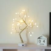 LEDツリーライトホームパーティーウェディングフェスティバル卓上装飾エレガントで魅力的な装飾的なナイトランプ、タッチスイッチボタン付き
