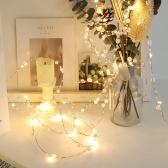 5M 50 lumières chaîne de perles lumière fil de cuivre blanc chaud décoration lumineuse constante de la pièce