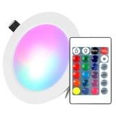 Downlight de iluminación empotrable LED de 5W con control remoto IR