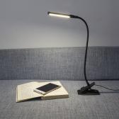 4W Oświetlenie LED Ochraniacz Zacisk Klip lampa Lampa biurkowa Ultra Bright Bendable USB Powered Elastyczność do czytania Praca Studia