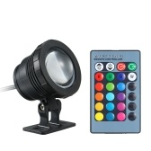 AC/DC 12V 10W RGB Underwater Light Submersible Lamp with Remote Control