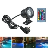 AC85-265V 10W RGB Underwater Light Submersible Lamp with Remote Control