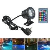 AC85-265V 10W RGB Подводный свет погружной лампы с дистанционным управлением