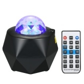 Music Starry Projector Light LED Night Lamp with Remote Control Romantic Starlit Projection Lamp 10 Levels Brightness & Multi Lighting Modes Support U-disk/BT Music Player/Timer Function