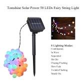 Tomshine Solar Powered 50 LEDs String Light