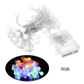 Batterys Powered 60leds Globe String Light 8 Lighting Modes Effects Warm White IP44 Water-resistant Hanging Fairy Lights for Christmas Wedding Party Home Decoration