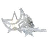 Светодиодные гирлянды со звездой для домашнего использования, оконная занавеска для спальни, рождественская вечеринка, свадебный фестиваль, декоративная струнная лампа