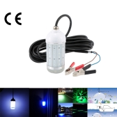 Lixada 12V 30W IP68 0-30m Water Resistant LED Lure Light Underwater Fish Attractor Lamp for Sea Lake Night Fishing
