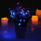50 LEDs de 5 m / 16,4 pies al aire libre de cobre secuencia del alambre de luces coloridas de hadas de la lámpara con pilas de la resistente al agua para las celebraciones festivas de la decoración de la boda de la boda Celebraciones Decorationestive del partido de Halloween Navidad