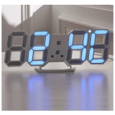 Pratique Digital LED Horloge Horloge Tableau Night Wall Watch