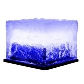 Lámpara solar para césped, lámpara LED de cubo de hielo para exteriores, lámpara de cristal para césped, luz de jardín, decoración de camino impermeable
