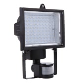 Ultra Hell 80 LEDs Solar angetriebene PIR Körper menschliche Bewegung & Lichtsensor Lampe Panel Outdoor Security Spotlight für Rasen Garten Pool Teich Road Pathway Einfahrt weiß