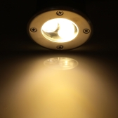 Lixada 3W 12V DC IP67 LED lámpara luz impermeable alta potencia templado vidrio cuadrado de jardín al aire libre paisaje CE RoHs