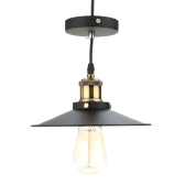 Lixada Stainless Steel Retro Vintage Pendant Light Countryside Lamp E27 for Living Hall Ceiling with 1.2m Wire