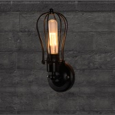 Lixada casi retrò Vintage Lampada E27 luce paese applique da parete montato camera da letto Loft Living Room Hotel Hall