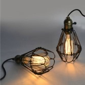 Lixada Classical Vintage Retro Pendant Lamp Light E27 Bulb Loft Antique Cage for Parlor Hotel Bedroom with 1.2m Wire