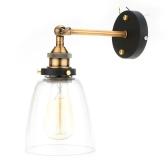 Lixada Vintage Szklane Ścienne Sconces Rustykalne Krajowe Lampy ścienne Retro Mounted Ścienne Sypialniane Lampy Lustra Stair E27