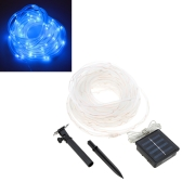 Lixada 10M 100 LED Solar Powered Tube String Light Lamp for Party Wedding Home Decor Christmas Gift