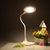 Lixada Гибкая Настольная лампа Защита глазы с регулируемой яркостью 5 уровней и сенсорным переключателем и USB-выходным портом US разъемом