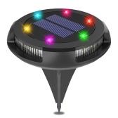 10LEDs Lampada per prato solare Lampada da giardino in plastica impermeabile per esterni