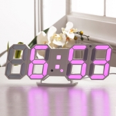 Prático Digital LED Clock Alarm Table Night Wall Watch