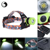 U`King ZQ-X8001 Outdoor LED Headlamp Flashlight Zoomable Adjustable Focus Portable Camping Hiking Caving Headlight 1 * XMK-T6 3-Mode 1200LM Yellow