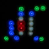 Lixada 10W RGBW de 64LED Color cambiar dirigible viga luz Gobo patrón etapa lámpara Sound Control Auto corriendo agua efecto estroboscópico para el partido de Club Discoteca KTV